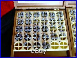 Kingsley Hot Foil Stamping Machine Type Set Letters 3 Boxes + Small Parts Box