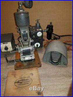 Kingsley Hot Foil Stamping Machine Vintage AWH-31, Foil heating tray & more