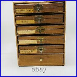 Kingsley Lot of 5 Boxes Hot Foil Stamping Machine Type Font in Original Case