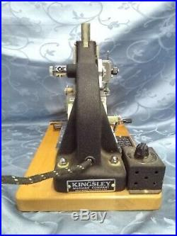 Kingsley M-50 Hot Foil Stamping Machine With Lots of Foil and Cushion Boards
