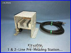 Kingsley Machine (1 & 2-Line Pre-Heating Station) Hot Foil Stamping Machine