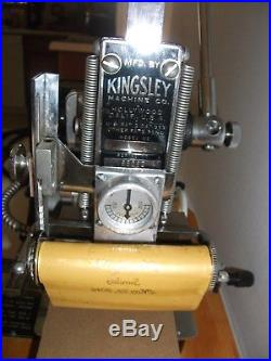 Kingsley Machine Hot Foil Stamping Machine Model M-60 With Accessories