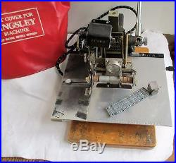 Kingsley Machine Hot Foil Stamping Machine Used Working Condition With Extras