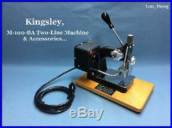 Kingsley Machine (M-100-BA Two Line Machine & Accessories) Hot Foil Stamping