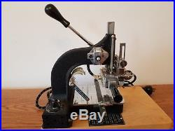 Kingsley Machine Model M50 with accessories. Hot foil stamping
