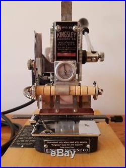 Kingsley Machine Model M60 with accessories. Hot foil stamping
