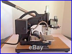 Kingsley Machine Model M-101 Hot Foil Stamping Machine plus Type and Accessories