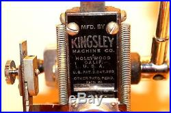 Kingsley Machine Model M-50 Hot Foil Stamping Machine Tested and Working M50