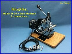 Kingsley Machine (Model M-60 Two Line & Accessories) Hot Foil Stamping Machine