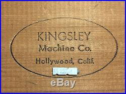 Kingsley Machine Type 14pt. Goudy Cursive Hot Foil Stamping Machine