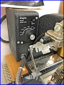 Kingsley Model M-75 Hot Foil Stamping Machine with Instructions Case Accessories