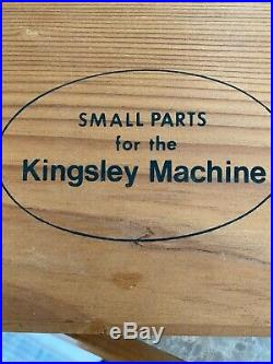 Kingsley hot foil stamping machine with Gothic Type and Small Parts