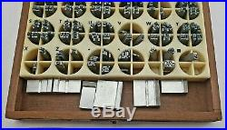 Lot Of 2 Kingsley Machine Type (13pt+14pt lower case) Hot Foil Stamping Machine