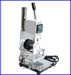 NEW 8x10cm Hot Foil Stamping Machine for PVC Card Leather and Paper Embossing