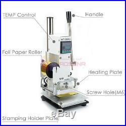 NEW Digital Hot Foil Leather Craft Stamping Machine Logo Bronzing Card Embossing