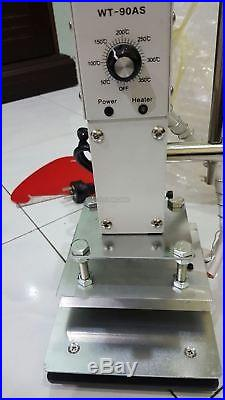 Small Manual Hot Foil Stamping Machine Leather Plastic Bronzing Machine