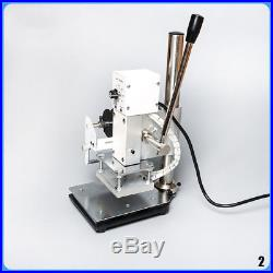 Small Manual Hot Foil Stamping Machine Leather Plastic Bronzing machine 110V