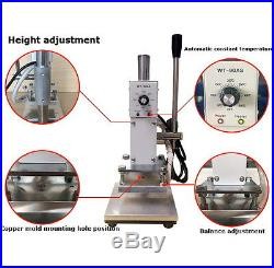 Small Manual Hot Foil Stamping Machine Leather Plastic Bronzing machine 110V Y