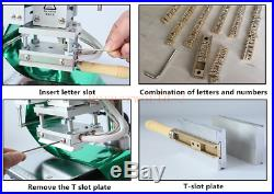 T slot Hot Foil Stamping Machine 1013cm Paper Embossing with Letters and Number