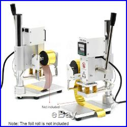 Upgraded Hot Foil Stamping Machine for Leather PVC PU Card Logo Printer 10x13CM