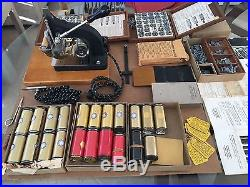 Vintage KINGSLEY Hot Foil Stamping Machine M-50 + Accessories