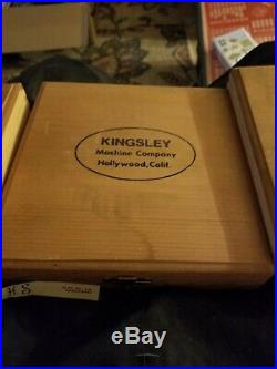 Vintage Kingsley Co. Hollywood CA, Machine Type Hot Foil Stamping Letters Lot