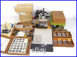 Vintage Kingsley M-60 Hot Foil Stamping Machine With Lots of Accessories
