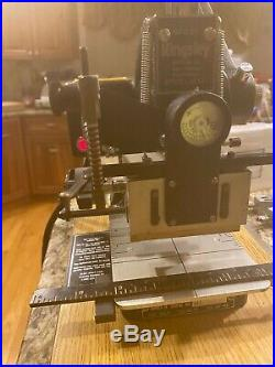 Vintage Kingsley hot foil stamping machine with EXTRAS EXTRAS EXTRAS